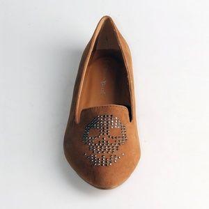 Nature Breeze Shoes - Debbie-01 Skull Ballet Flat